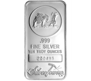 Silvertowne Silver Bullion Bar Sizes Purities And Worth