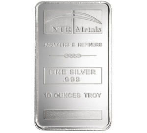 A 10 oz NTR Silver Bar