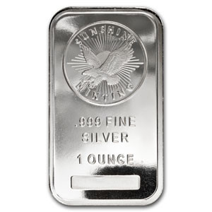 Sunshine Minting Silver Bullion Bar Sizes Purities And