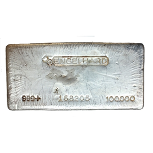 Engelhard Silver Bullion Bar Sizes Purities And Worth